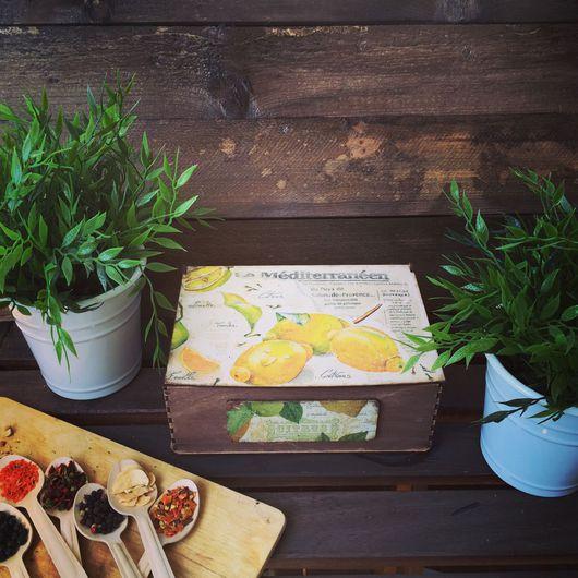 """Кухня ручной работы. Ярмарка Мастеров - ручная работа. Купить Короб для кухни """"лимон"""". Handmade. Короб для хранения, любимый дом"""