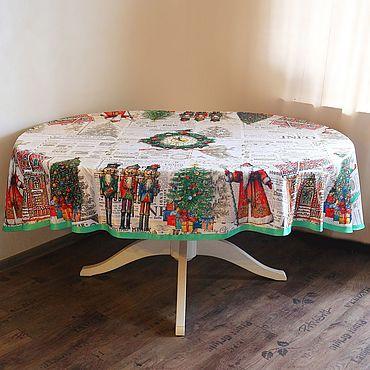 """Текстиль ручной работы. Ярмарка Мастеров - ручная работа Скатерть овальная """"Пряничное Рождество"""". Handmade."""