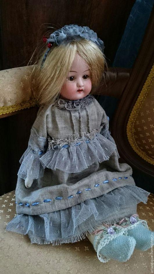 Винтажные куклы и игрушки. Ярмарка Мастеров - ручная работа. Купить Антикварная кукла. Handmade. Бежевый, куколка, кукла интерьерная