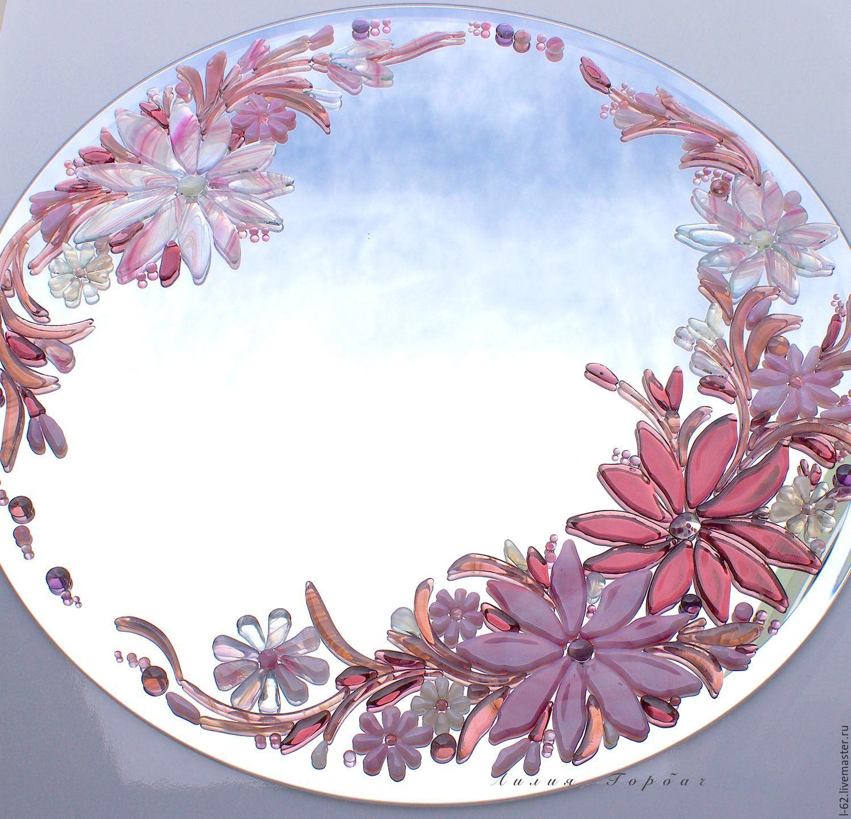 El espejo, la decoración de vidrio, fusión de rosas sueños – compra ...