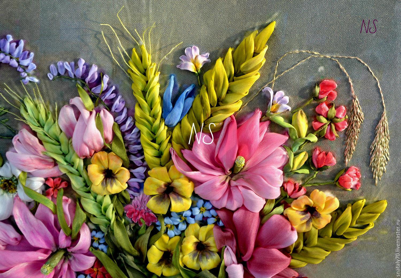 Вышивка лентами картинки цветы 17