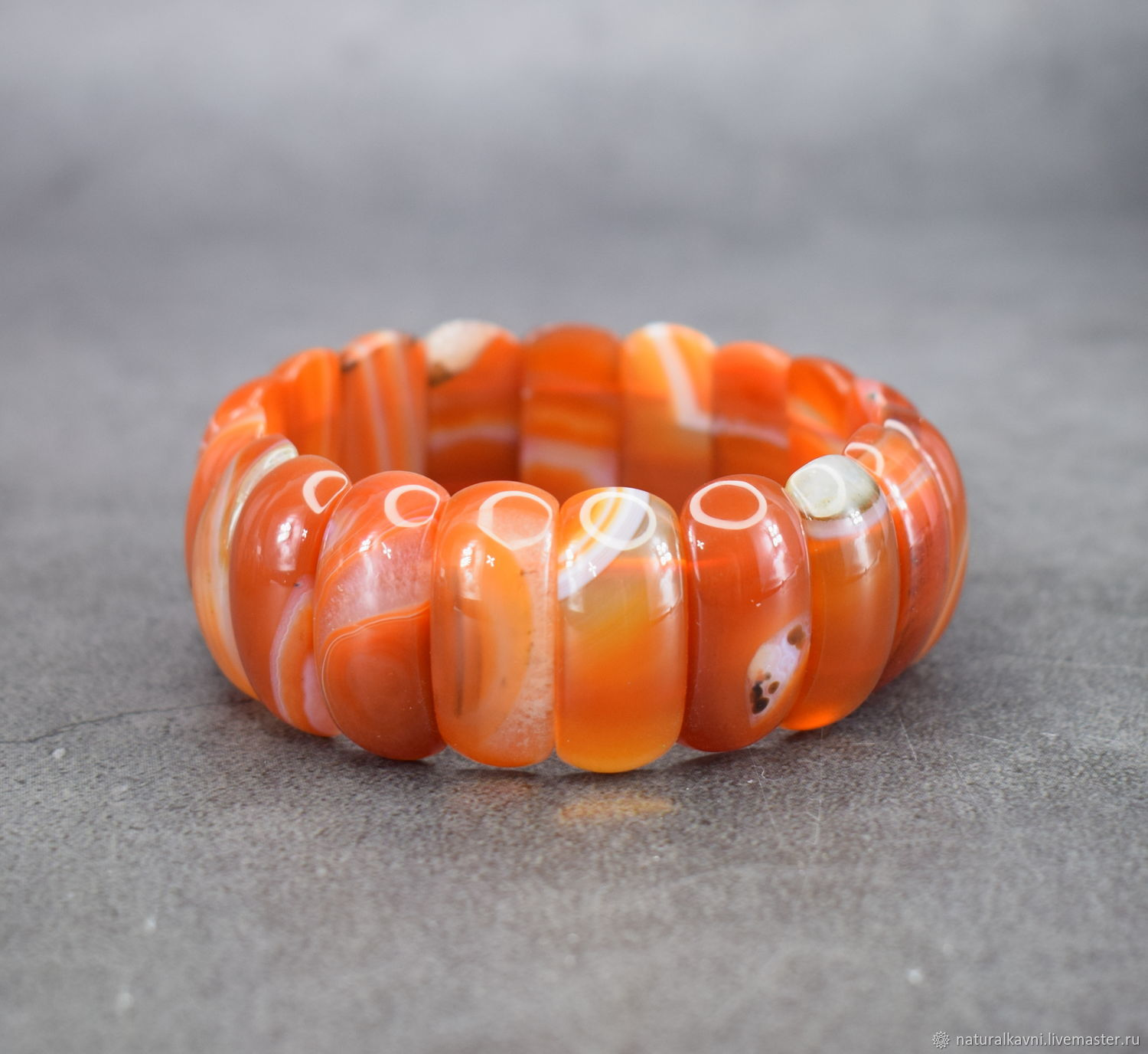 Rare example!!! Bracelet with natural carnelian, Bead bracelet, Moscow,  Фото №1