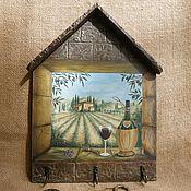 """Для дома и интерьера ручной работы. Ярмарка Мастеров - ручная работа Ключница-вешалка """"Твоё окно"""". Handmade."""