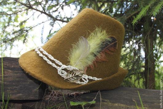 Шляпы ручной работы. Ярмарка Мастеров - ручная работа. Купить Тирольская, егерская шляпа для охотника. Handmade. Хаки, тирольская шляпа