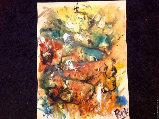 Абстракция ручной работы. Ярмарка Мастеров - ручная работа. Купить Тонкая грань.. Handmade. Рыжий, купить картину недорого