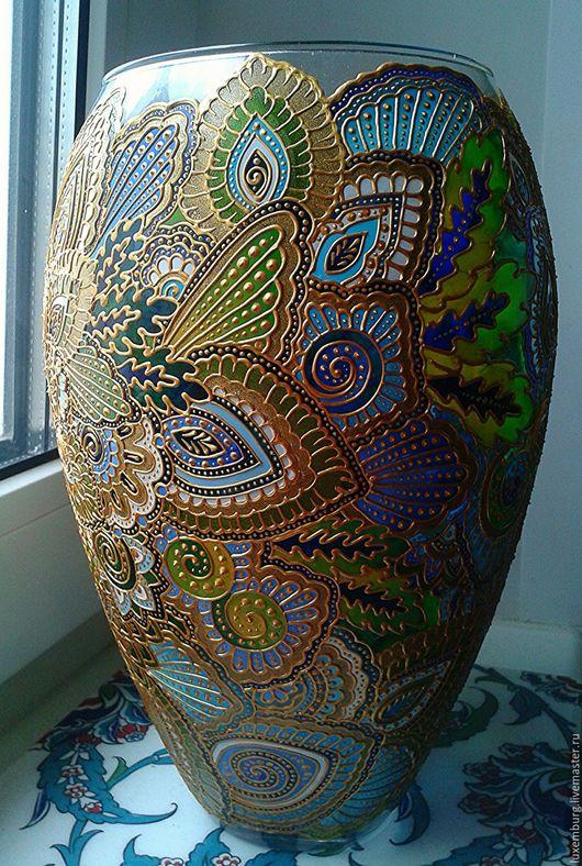 Вазы ручной работы. Ярмарка Мастеров - ручная работа. Купить ваза для цветов. Handmade. Комбинированный, ваза для цветов, витражное стекло
