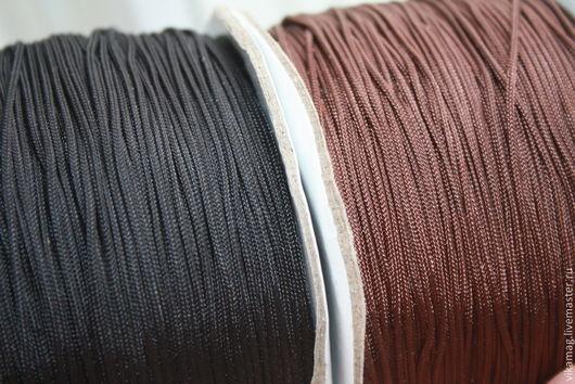 Для украшений ручной работы. Ярмарка Мастеров - ручная работа. Купить Шнур  капроновый, черный и коричневый, 1.2мм. Handmade.
