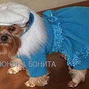 """Для домашних животных, ручной работы. Ярмарка Мастеров - ручная работа Комбинезон-пальто  """"Ягода Голубая"""". Handmade."""