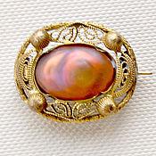 Винтаж handmade. Livemaster - original item Victorian brooch with unusual glass. Handmade.