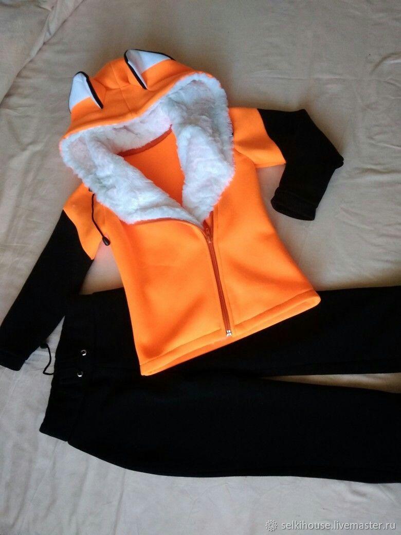 Одежда унисекс ручной работы. Ярмарка Мастеров - ручная работа. Купить Лисенок- детский спортивный костюм. Handmade. Аниме, футер