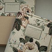 Канцелярские товары handmade. Livemaster - original item Album for a herbarium Bouquet with roses. Vintage. ( A4, 40 plants). Handmade.