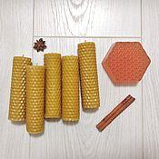 Сувениры и подарки handmade. Livemaster - original item Candle yellow. Handmade.