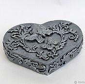 Для дома и интерьера handmade. Livemaster - original item Jewelry box jewelry storage box decoupage Silver heart. Handmade.