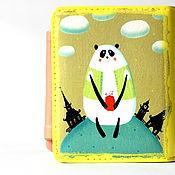 """Сумки и аксессуары ручной работы. Ярмарка Мастеров - ручная работа Желтый кошелек """"Панда"""". Handmade."""