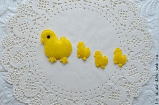 """Аппликации, вставки, отделка ручной работы. Ярмарка Мастеров - ручная работа. Купить Аппликации """"Курочка"""" и """"Цыпленок"""".. Handmade. Желтый, для скрапа"""