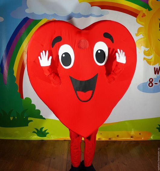 Костюм Сердце. Ростовая кукла Сердце. Сердце - открытка. Сердце-курьер.