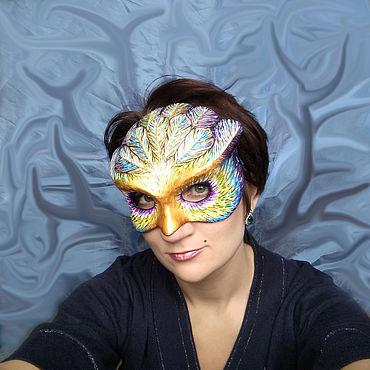"""Субкультуры ручной работы. Ярмарка Мастеров - ручная работа Аксессуары: маска """"Филин в ярком"""". Handmade."""