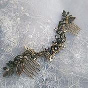 Свадебный салон handmade. Livemaster - original item Wedding sprig. Bronze leaves.. Handmade.