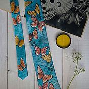 Аксессуары ручной работы. Ярмарка Мастеров - ручная работа Бабочки - шелковый галстук с ручной росписью. Handmade.