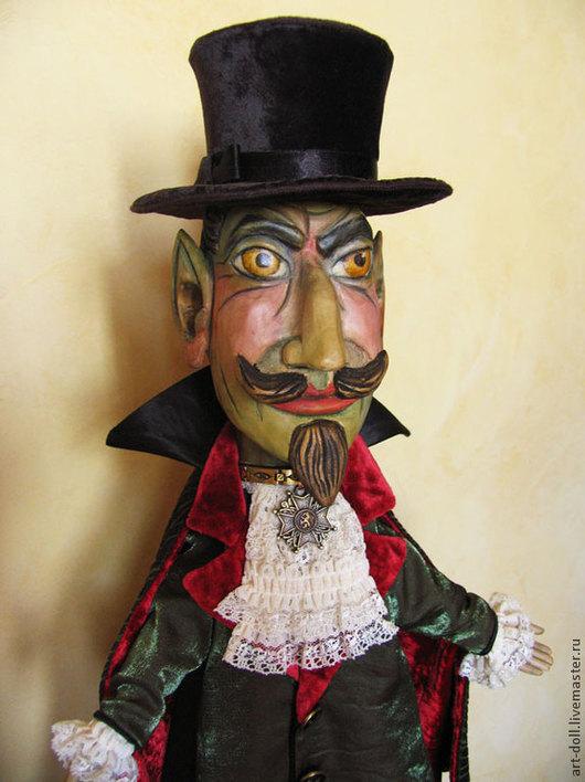 Коллекционные куклы ручной работы. Ярмарка Мастеров - ручная работа. Купить Кукла чёрта. Handmade. Петрушка, Оригинальная кукла