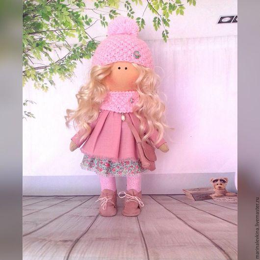 Куклы тыквоголовки ручной работы. Ярмарка Мастеров - ручная работа. Купить Нежность. Handmade. Бледно-розовый, подарок, кукла интерьерная