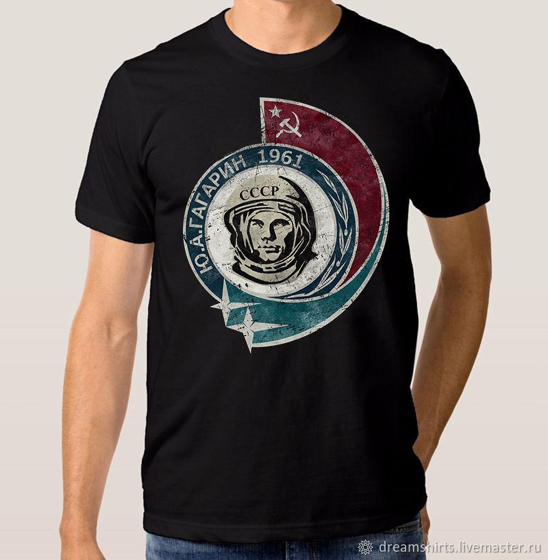 """Футболка хлопковая """"Гагарин"""", T-shirts, Moscow,  Фото №1"""