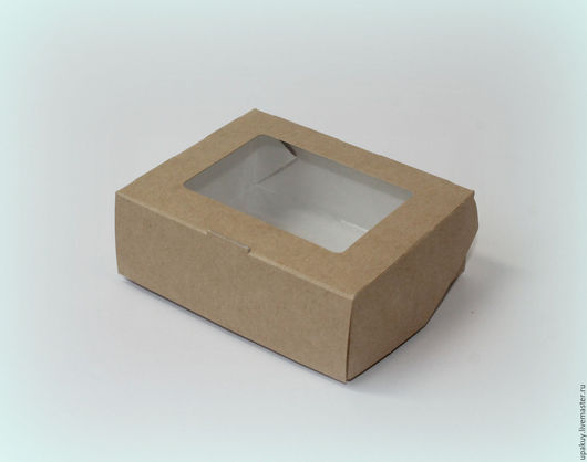 Упаковка ручной работы. Ярмарка Мастеров - ручная работа. Купить ЭКО Коробочка с прозрачным окошком 8x10x3. Handmade. Крафт упаковка