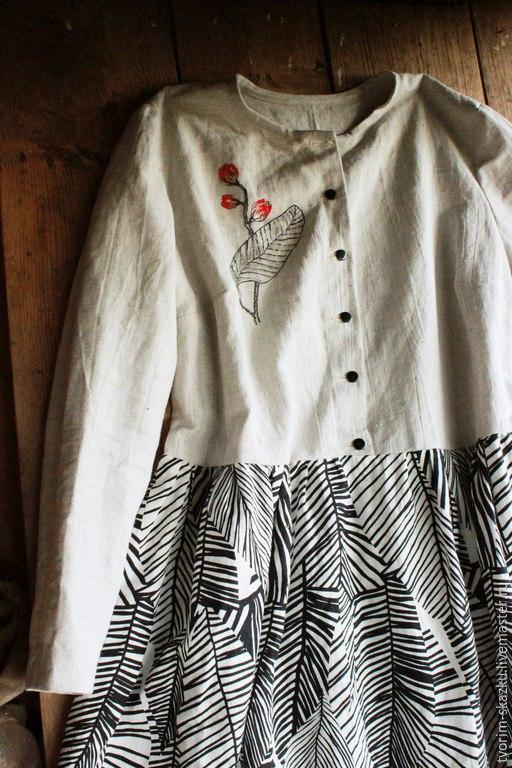 """Платья ручной работы. Ярмарка Мастеров - ручная работа. Купить Платье """"Ливни в тропиках"""". Handmade. Серый, бохошик, роспись по ткани"""