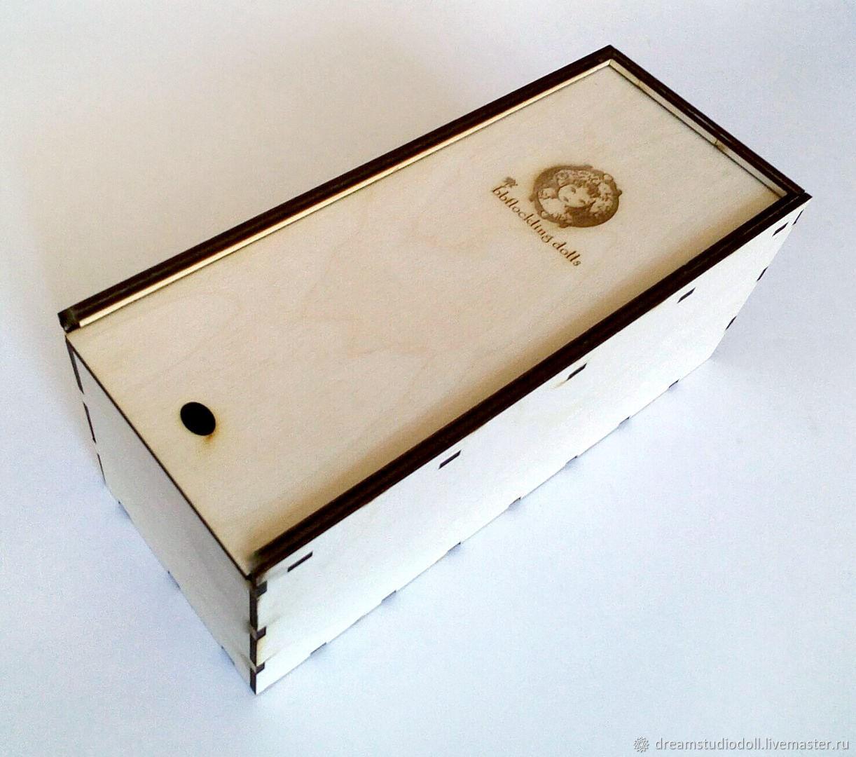 Деревянная коробка для куклы Блайз (Blythe) с вашим логотипом, Аксессуары для кукол и игрушек, Санкт-Петербург,  Фото №1
