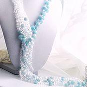 Украшения handmade. Livemaster - original item Necklace with auqamarine and rock crystal