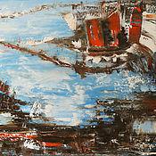 Картины и панно handmade. Livemaster - original item Painting abstract landscape on canvas oil 60H80. Handmade.