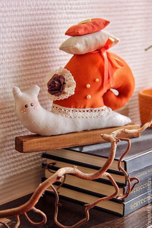 Куклы Тильды ручной работы. Ярмарка Мастеров - ручная работа. Купить Улитка Тильда в терракотовом цвете. Handmade. Рыжий