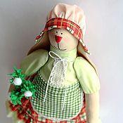 Куклы и игрушки ручной работы. Ярмарка Мастеров - ручная работа Тильда Зайка цветочная. Зимний вариант. Handmade.