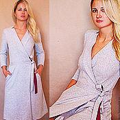 Одежда ручной работы. Ярмарка Мастеров - ручная работа Платье серое. Handmade.