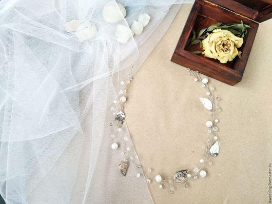 Свадебные украшения ручной работы. Ярмарка Мастеров - ручная работа. Купить Свадебное украшение для волос Нимфа. Handmade. Белый