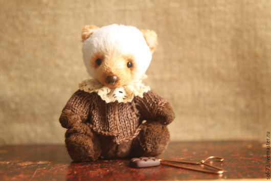 Мишки Тедди ручной работы. Ярмарка Мастеров - ручная работа. Купить Шоколад! мишка 9,5 см!. Handmade. подарок