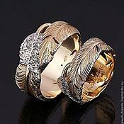 """Свадебный салон ручной работы. Ярмарка Мастеров - ручная работа Обручальное кольцо """"Лебединое"""". Handmade."""