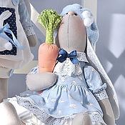 Куклы и игрушки ручной работы. Ярмарка Мастеров - ручная работа Gray & Greta. Текстильные игрушки зайцы. Handmade.