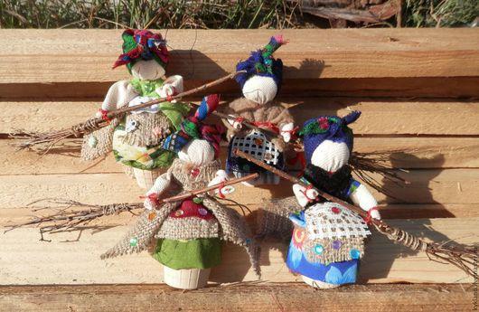 Народные куклы ручной работы. Ярмарка Мастеров - ручная работа. Купить Оберег Бабка Ёжка. Handmade. Разноцветный, сувениры и подарки