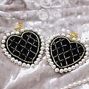 Украшения handmade. Livemaster - original item Hearts Earrings. Handmade.