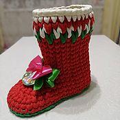 Сувениры и подарки handmade. Livemaster - original item Santa Claus`s new year`s boot.. Handmade.