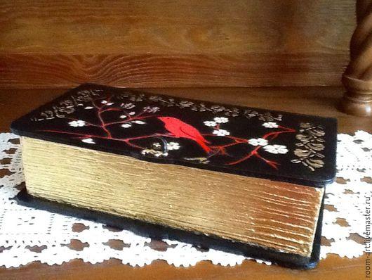 Шкатулка-книга  для мелочей. Золочение поталью.