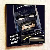 Подарки к праздникам handmade. Livemaster - original item Picture Poster Pop Art Batman LEGO Lego. Handmade.