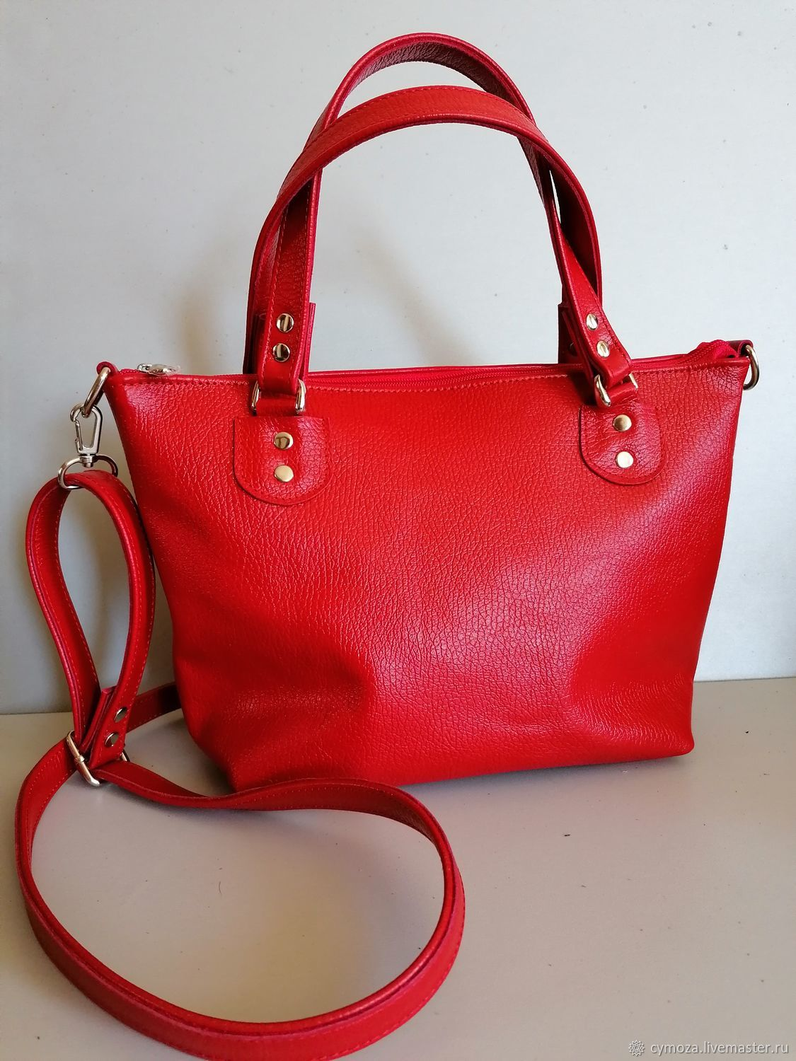 Leather bag. Bag made of genuine leather.Red class, Classic Bag, Krasnodar,  Фото №1