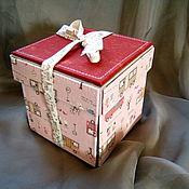 """Канцелярские товары ручной работы. Ярмарка Мастеров - ручная работа мини фотоальбом """" Коробочка с сюрпризом"""". Handmade."""