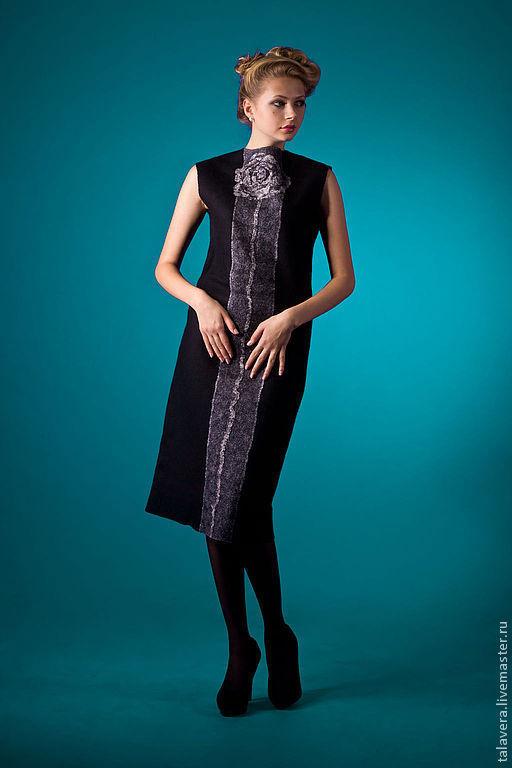 Платья ручной работы. Ярмарка Мастеров - ручная работа. Купить Элегантность в черном. Handmade. Черный, Платье нарядное, ольга шуляк