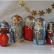 Сувениры и подарки handmade. Livemaster - original item Christmas tree toys Russian heroes. Handmade.