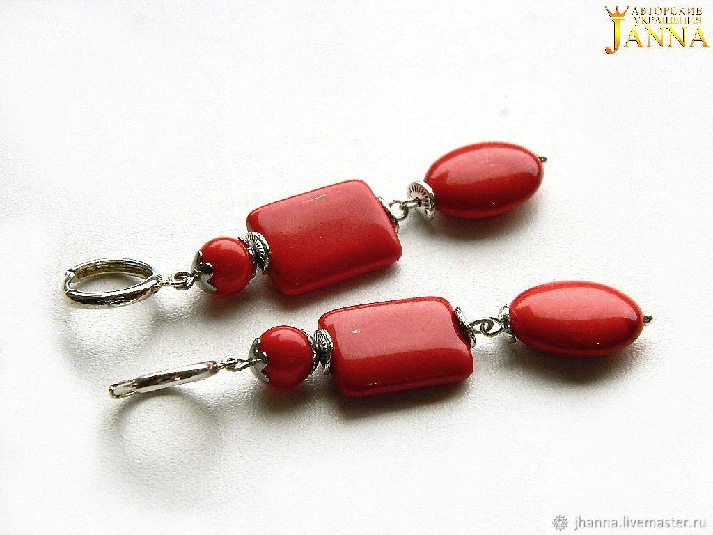 Earrings handmade. Livemaster - handmade. Buy Coral. ' Siita' earrings with corals.Earrings, earrings with pendants