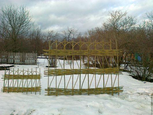 Экстерьер и дача ручной работы. Ярмарка Мастеров - ручная работа. Купить Забор плетёный плетень. Handmade. Забор, дачный декор