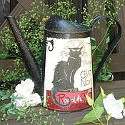 """Цветы и флористика ручной работы. Ярмарка Мастеров - ручная работа Лейка """"Черная грация"""". Handmade."""
